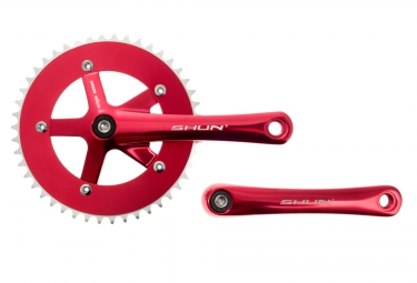 GNK Pédalier Fixie 165 mm x 46 Dents Rouge