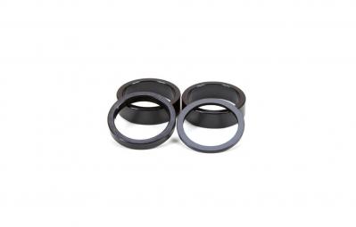 GNK Kit de 4 entretoises Aluminium Noir
