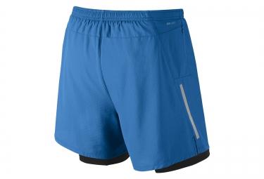 NIKE Short 2-en-1 PHENOM 2-IN-1 12,5cm Bleu Homme