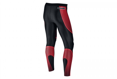 Collant Long Homme NIKE POWER SPEED Noir Rouge