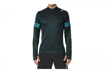 ADIDAS Maillot Manches Longues RESPONSE Demi-Zip Vert