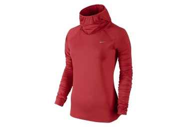 NIKE Sweat à capuche ELEMENT Rouge Femme