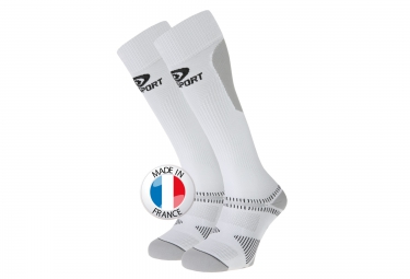 BV SPORT Chausettes Récupération Recovery SL Blanc