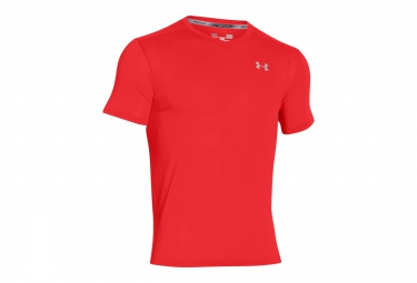 UNDER ARMOUR STREAKER RUN Short Sleeves Jersey Red