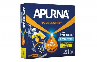 APURNA Gel Energétique LIQUIDE Citron Boite 5x35g
