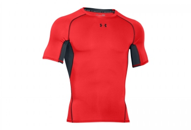 UNDER ARMOUR HEATGEAR ARMOUR Short Sleeves Compression Jersey Red Black