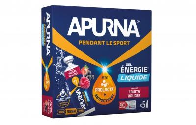 APURNA Gel Energétique LIQUIDE Fruits Rouges 5x35g