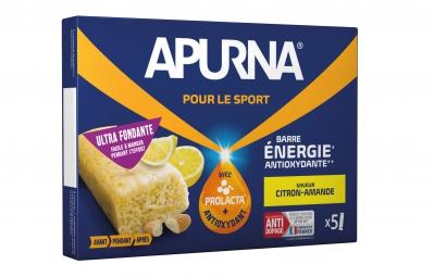 APURNA Barre Energétique Citron-Amande Boite 5x25g