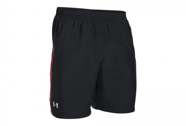 UNDER ARMOUR LAUNCH 7 Shorts Black Red