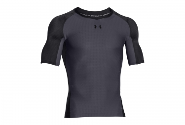 UNDER ARMOUR CLUTCHFIT Short Sleeves Compression Jersey Black Grey