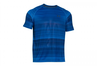 UNDER ARMOUR TECH PATTERNED Short Sleeves Jersey Blue