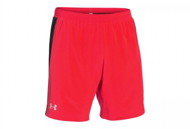 UNDER ARMOUR LAUNCH 2 in 1 Shorts Red Black