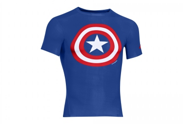 UNDER ARMOUR TRANSFORM YOURSELF Short Sleeves Compression Jersey Captain America Blue