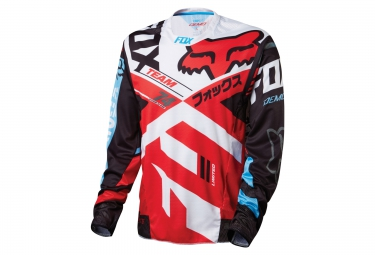 FOX Maillot manches Longues DEMO LS Rouge