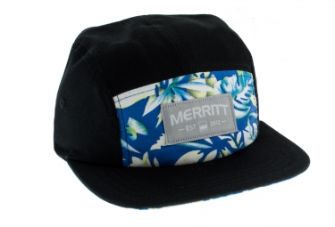 MERRITT Casquette 5 Panel OXFORD Noir Tropical
