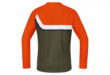 GORE BIKE WEAR Maillot Manches Longues POWER TRAIL Orange Marron