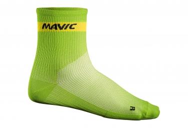 MAVIC 2016 Paire de Chaussettes Medium Cosmic Vert
