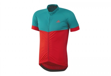 ADIDAS Maillot Manches Courtes RESPONSE TEAM Rouge Vert