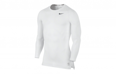 NIKE Maillot PRO COOL COMPRESSION Blanc Homme