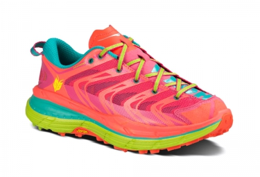 HOKA SPEEDGOAT Rose Bleu Orange Femme