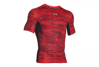 UNDER ARMOUR COOLSWITCH Short Sleeves Compression Jersey Red Black