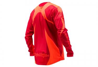 TROY LEE DESIGNS 2016 Maillot Manches Longues Enfant SPRINT REFLEX Rouge Orange