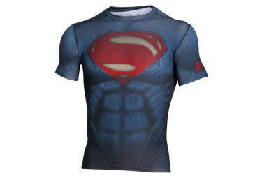 UNDER ARMOUR Compression Short Sleeves Jersey SUPERMAN Blue