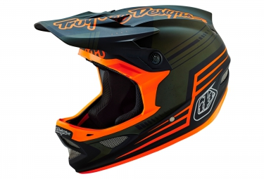 Casque intégral Troy Lee Designs D3 COMPOSITE ARMY 2016 Vert Orange