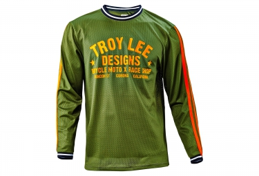 TROY LEE DESIGNS 2016 Maillot Manches Longues SUPER RETRO Vert