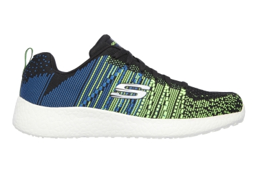 SKECHERS Running Shoes BURST Black Blue Green
