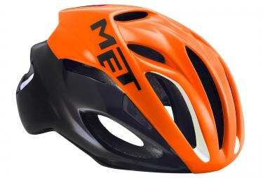 Casque MET RIVALE Orange Noir