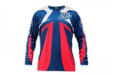 TROY LEE DESIGNS 2016 Maillot Manches Longues SPRINT Bleu Rouge Blanc