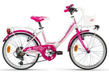 Vélo Enfant Lombardo MARIPOSA 6v 20'' Blanc / Rose