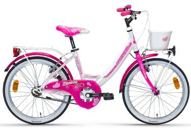 LOMBARDO Vélo enfant MARIPOSA 20´´ Mono Vitesse Blanc Rose
