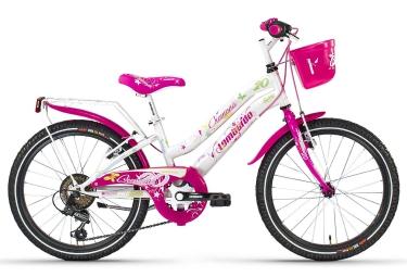 LOMBARDO Vélo enfant CREMONA 20´´ 6 Vitesses Blanc Rose