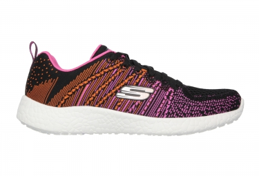 SKECHERS Running Shoes BURST Black Pink Women
