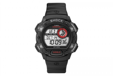 TIMEX Montre BASE SHOCK Noir Rouge