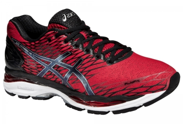 ASICS Running Shoes GEL NIMBUS 18 Red Black Silver