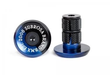 SUBROSA Embouts de Guidon Alu BITCHIN Blue Black Fade