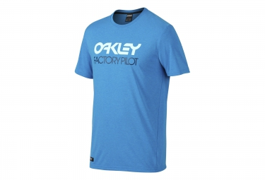OAKLEY Tee Shirt FACTORY PILOT Coupe Droite Bleu