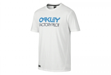 OAKLEY Tee Shirt FACTORY PILOT Coupe Droite Blanc