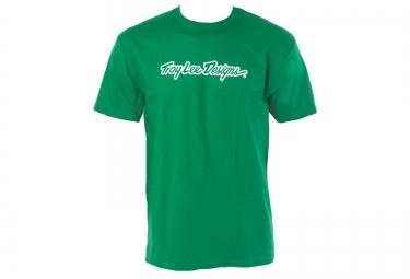 TROY LEE DESIGNS T-Shirt SIGNATURE Vert