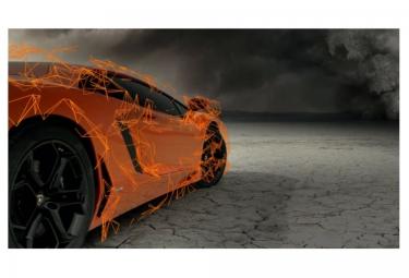 X-BIONIC for Automobili Lamborghini Cuissard Running Homme Noir Orange