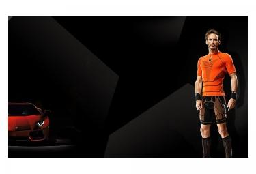 X-BIONIC for Automobili Lamborghini Maillot Running Homme Orange Noir