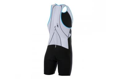 Z3R0D Combinaison pour Triathlon uSUIT UNIVERSAL Noir Blanc Bleu
