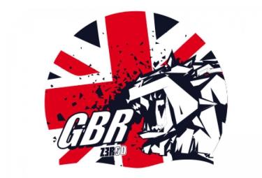 Z3R0D Bonnet de Bain NATIONAL PRIDE Bleu Rouge UK