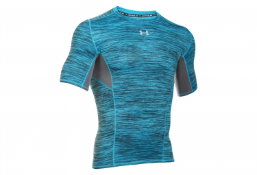 UNDER ARMOUR Short Sleeves Compression Jersey COOLSWITCH Blue Grey
