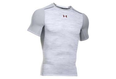 UNDER ARMOUR Short Sleeves Compression Jersey COOLSWITCH ARMOURVENT PODIUM Grey White