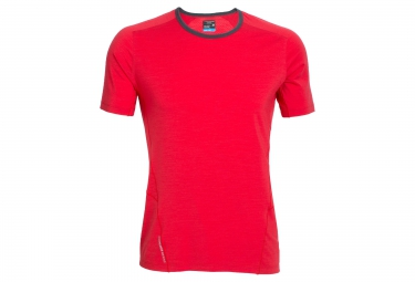 ICEBREAKER Maillot Manches Courtes STRIKE Rouge