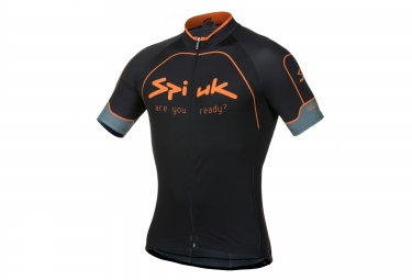 SPIUK Maillot Manches Courtes PERFORMANCE Noir Orange